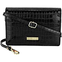 LA Enviro Zumi Women's Crossbody Shoulder Bag, Black