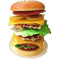 【ノーブランド 品】キッチン 食品玩具 プラスチック スタッキング ハンバーガー 子供 おもちゃ 贈り物