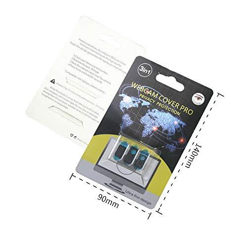 J&T ウェブカメラカバープライバシー保護 盗撮防止 Webcam Cover 3個セット Webカメラ用プライバシー保護カ...