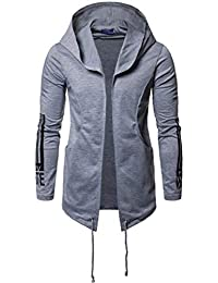 chenshiba-JP メンズヒップホップヒップホップスウェットシャツ秋軽量フーディージップコート