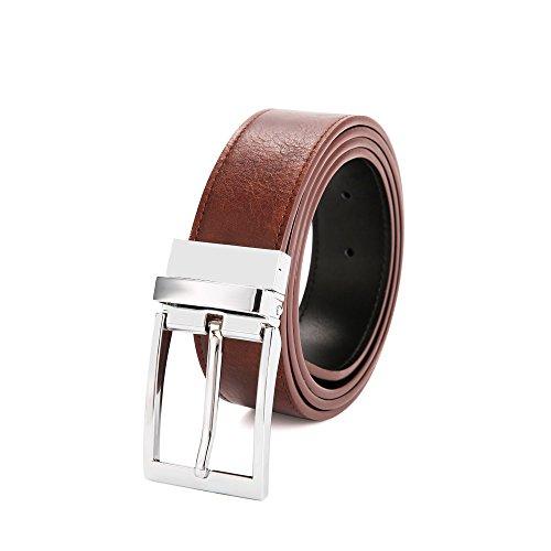 ネームブルー ベルトメンズ 本革 牛革レザー ビジネス 紳士 回転式バックル 両面使用 105cm-130cm CA1