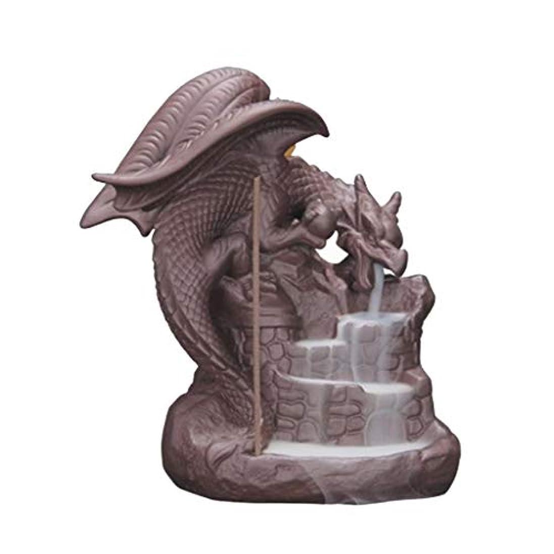 蓮ヒット毒ホームアロマバーナー セラミック逆流香バーナー香炉の家の装飾ドラゴン香ホルダーバーナー使用ホームオフィスの装飾ギフト 芳香器アロマバーナー (Color : B)