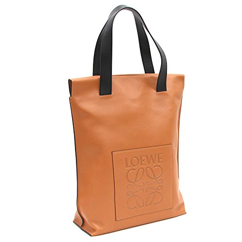 Loewe(ロエベ) トートバッグ ショッパーバッグ 330.54.K01ブラウン ブラック レザー 中古 革 メンズ アナグラム バイカラー 縦型 LOEWE [並行輸入品]