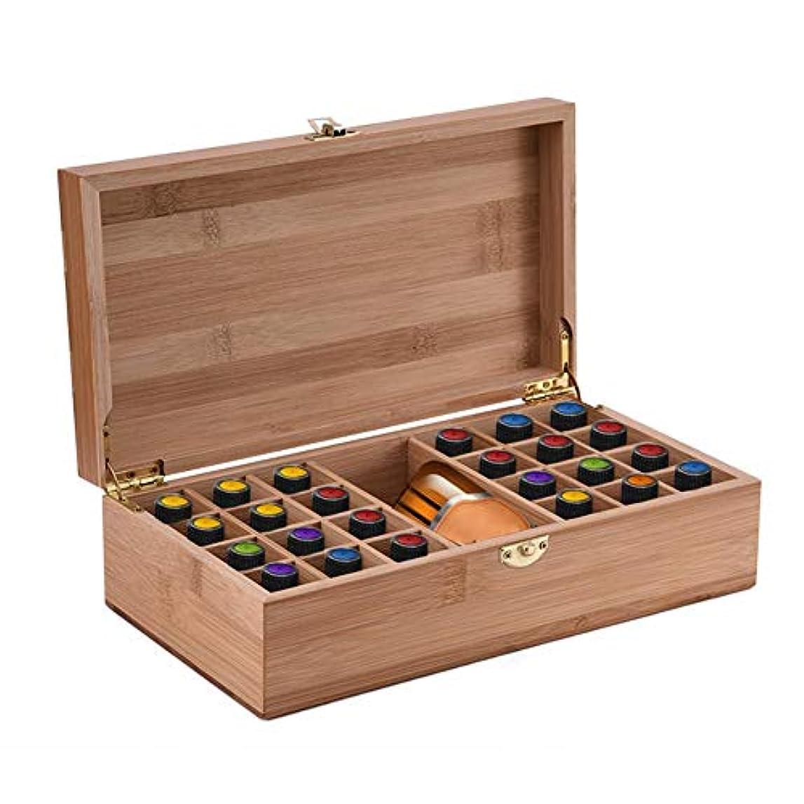 セレナ姪初期の竹エッセンシャルオイルストレージボックスは24ボトル5-10-15 ML、アロマテラピー保護オーガナイザーエッセンシャルオイル飾り装飾ギフト用木製収納ケースを保持します。