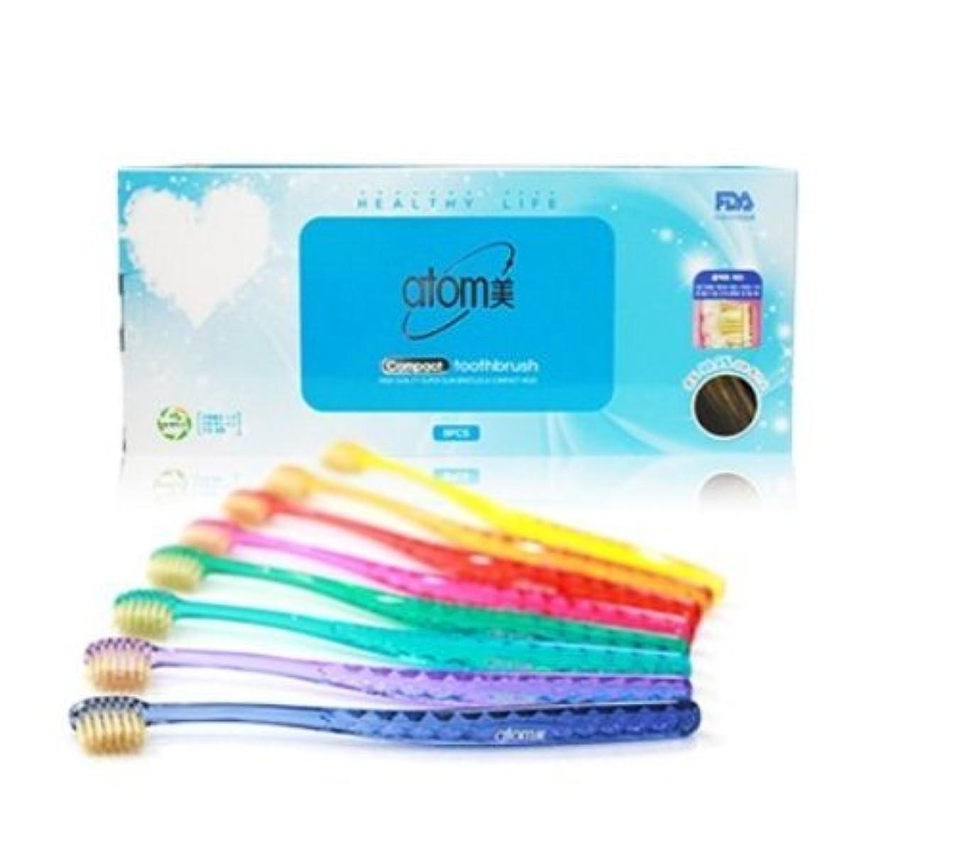 タブレット成長執着Atomi Atomy Atom美 アトミ アトミコンパクト歯ブラシ8本セット