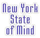 Billy Joel???New York State of Mind???Tシャツ???ステッカーグラフィックバンパーウィンドウステッカーデカール???状態Loveステッカー