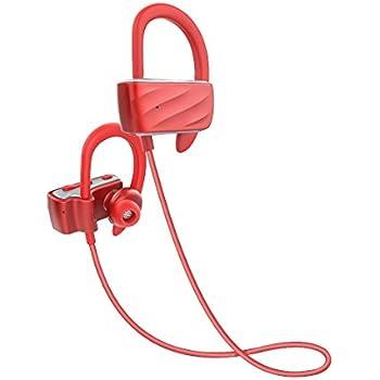 X-LIVE S560 Bluetoothイヤホン4.1 ハンズフリー通話 ワイヤレスイヤホン(カナル型)マラソンイヤホン ブルートゥース ヘッドセット 防汗 防滴 ノイズキャンセリング(レッド)