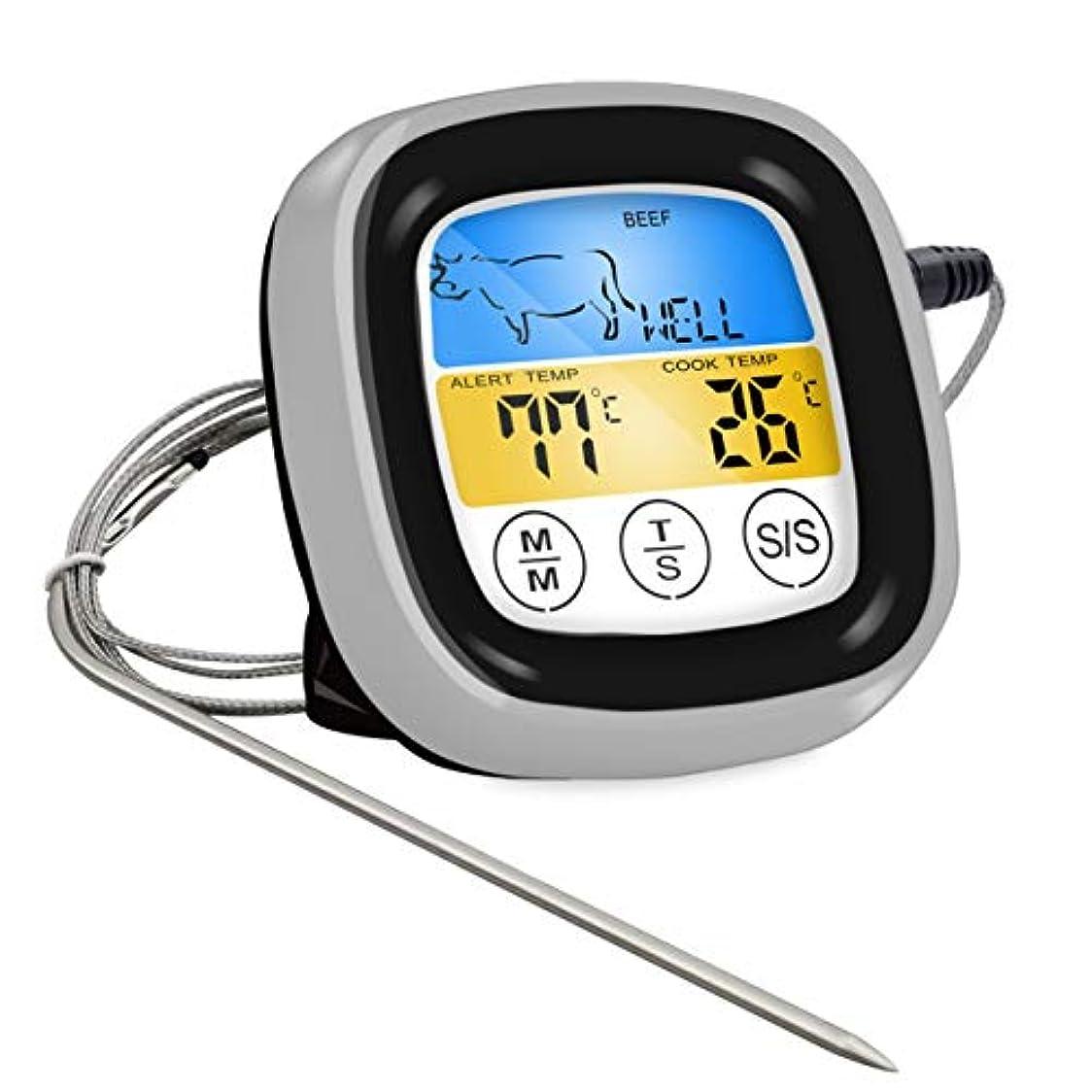 Saikogoods オーブン肉グリル 無料アプリの制御のためのシックス?プローブおよびタイマー付きフードクッキング ワイヤレスBBQ温度計 黒い銀