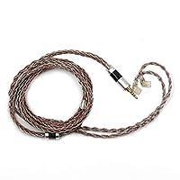 TRIPOWIN C8オーディオHIFIステレオ8本銅箔糸と銀箔糸で編み軽量イヤホンアップグレードケーブル 3.5/2.5/4.4mmプラグと0.78mm2pinとびMMCX及びQDCコネクターを搭載 Westone QDC TRN TINHIFI KZ BGVP AUGLAMOUR MAGAOSI LZAudio TONEKING SHOZY SHURE SE215 SE846 SE425 SE535 SE315 など多種のイヤホンとアンプ及び音楽プレーヤーに対応できアップグレードケーブル (2.5mm-QDC)