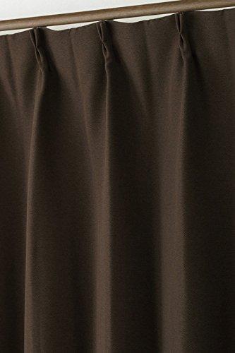 1級遮光カーテン8818BR-A 2重織りざっくり生地断熱 巾100x高200cm2枚組 100×200
