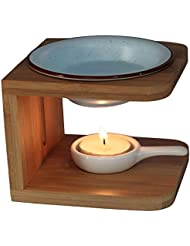 Singeek Buddha Headセラミックティーライトホルダー、Essential Oil Burner CandleアロマディフューザーSpaのヨガ瞑想