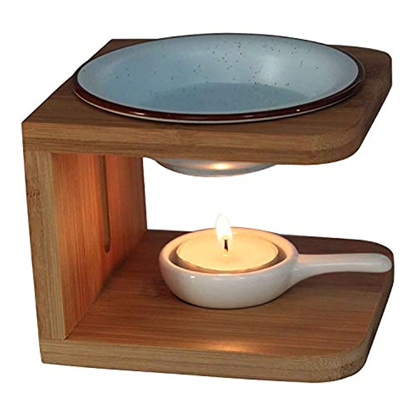 れる中庭共感するSingeek Buddha Headセラミックティーライトホルダー、Essential Oil Burner CandleアロマディフューザーSpaのヨガ瞑想