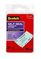 Scotch Self-Sealing Laminating Pouches, (LS851G), Business Card Size by Scotch