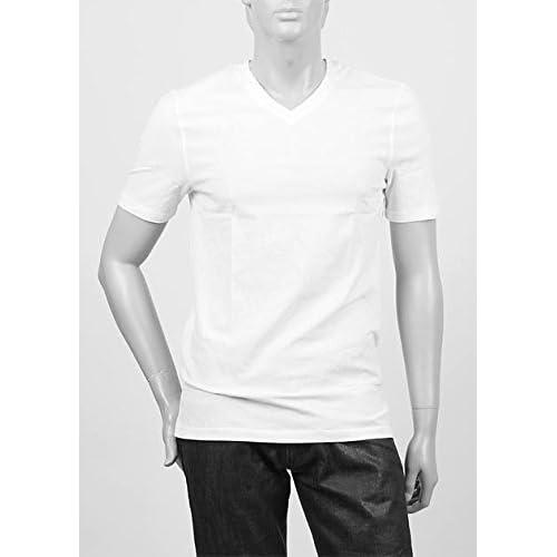 (スリードッツ) three dots VネックTシャツ Mサイズ WHITE ホワイト [並行輸入品]