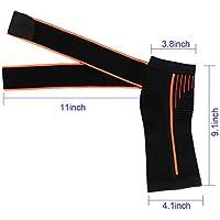 足首ブレース圧縮サポートスリーブ足底筋膜炎足のソックス(ブラック)