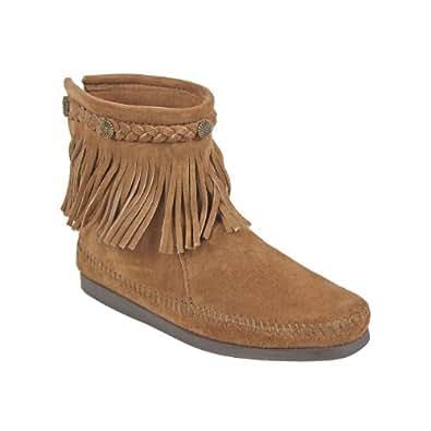 (ミネトンカ)MINNETONKA 293 HI TOP BACK ZIP BOOT ハイ トップ バック ジップ ブーツ US5.5(約22.0-22.5cm) DUSTY BROWN[ 293 ](並行輸入品)