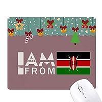 私はケニアから ゲーム用スライドゴムのマウスパッドクリスマス