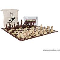 標準サイズチェスセットTournament Stauntonチェスボード、タイマー、DGT 2010、バッグ