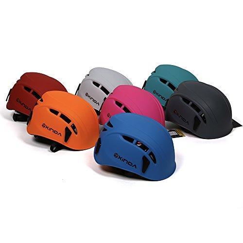 ヘルメット 登山用 【改良版】 EPS+PC製 防護帽 キャンプ アウトドア 装備 サイズ調整可能 安全保護 サイクリング 消防救援 洞窟探検 自転車などに適用 6色