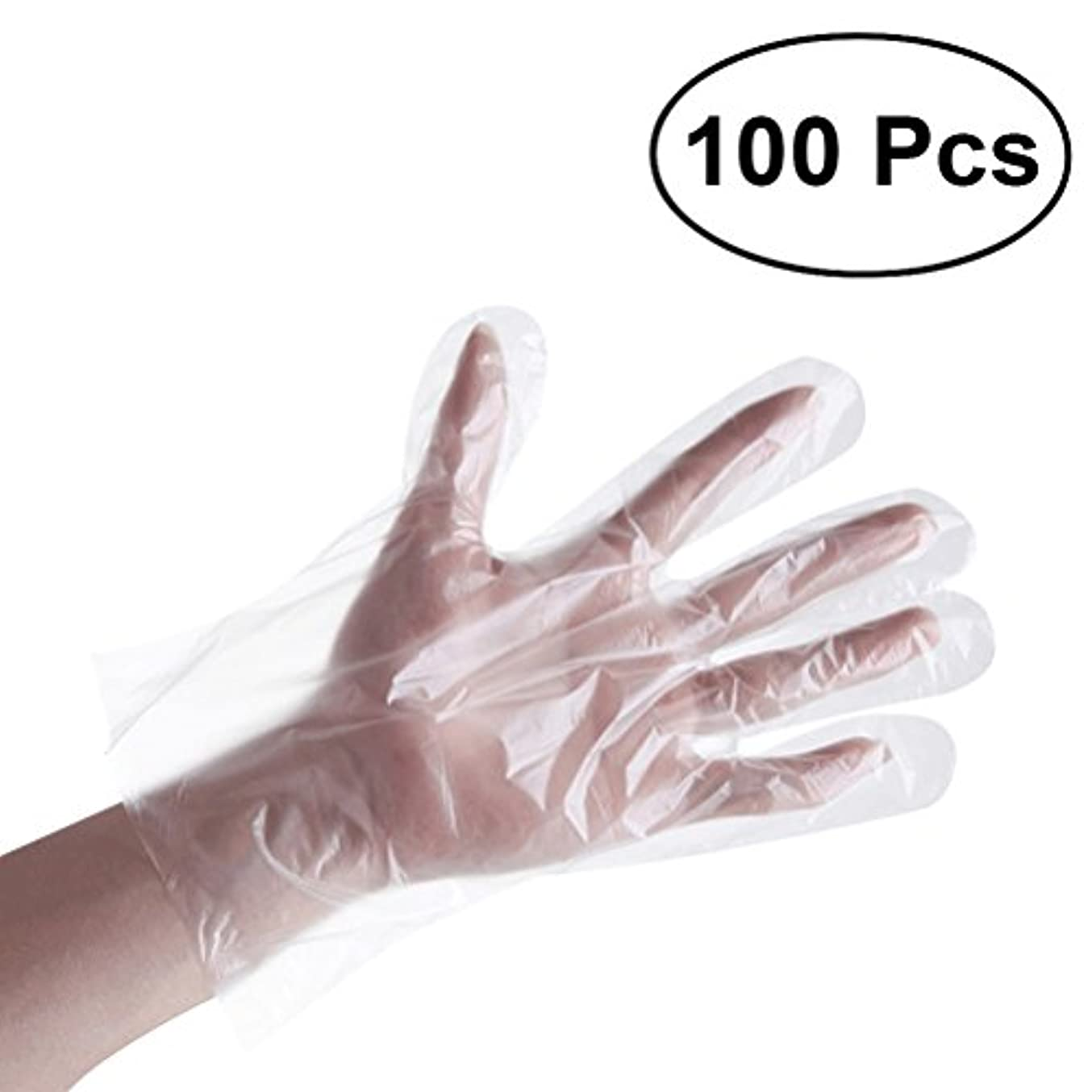 デイジー北方責BESTONZON 使い捨て手袋 使い捨てグローブ 透明 プラスチック 医療 クリーニング 衛生 絵画 美容 食品加工 キッチン用 100ピース