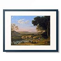 クロード・ロラン Claude Lorrain 「River landscape with goatherd. 1640s」 額装アート作品
