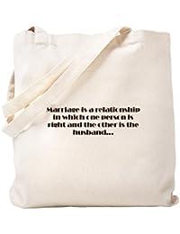 CafePress – Marriageトートバッグ – ナチュラルキャンバストートバッグ、布ショッピングバッグ S ベージュ 0092926373DECC2