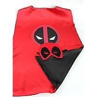Marvel Comicsコスチューム – デッドプールロゴCape and Mask withギフトボックスbyスーパーヒーロー