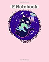 E Notebook: portal kitty  College Ruled - 50 sheets, 100 pages - 8 x 10 inches