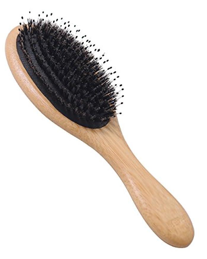 ウェブ拍手する自殺Orienex ヘアブラシ ヘアケア 豚毛 頭皮マッサージ 艶髪 木製櫛 美髪ケア