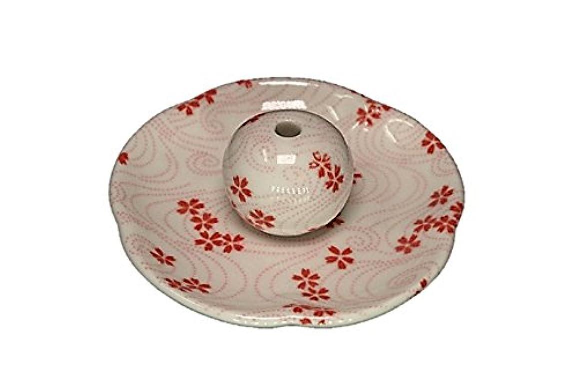 最少バンガローヘア桜渦 花形香皿 お香立て 日本製 製造 直売品