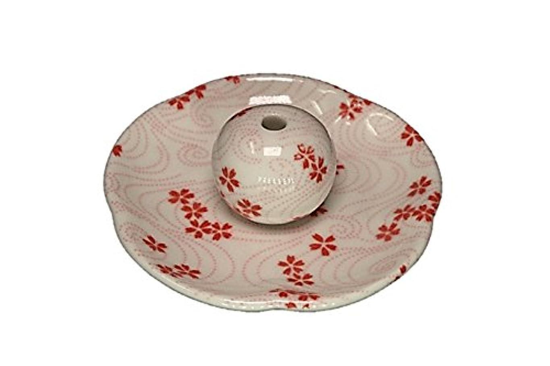 逆さまに苦痛理容師桜渦 花形香皿 お香立て 日本製 製造 直売品