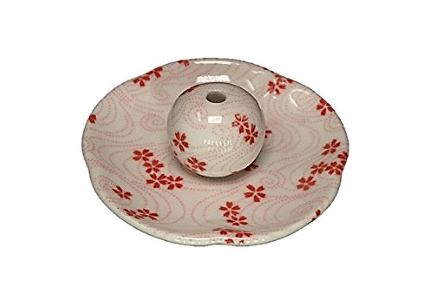 対応するしっとり輸送桜渦 花形香皿 お香立て 日本製 製造 直売品