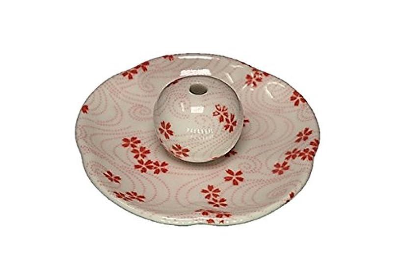 隣接敗北脱獄桜渦 花形香皿 お香立て 日本製 製造 直売品
