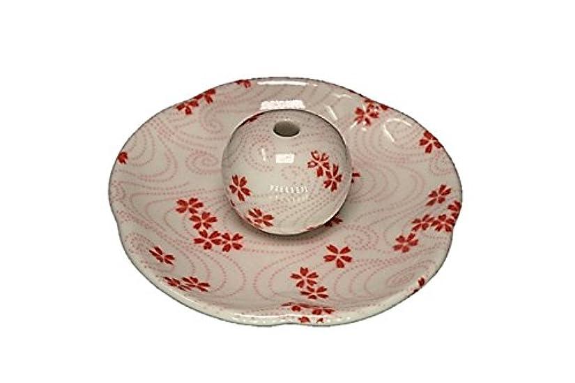 寝る理容室代理人桜渦 花形香皿 お香立て 日本製 製造 直売品