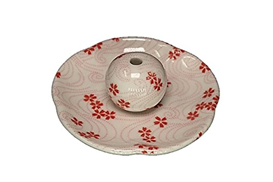 桜渦 花形香皿 お香立て 日本製 製造 直売品