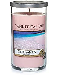 Yankee Candles Medium Pillar Candle - Pink Sands? (Pack of 2) - ヤンキーキャンドルメディアピラーキャンドル - ピンクの砂? (x2) [並行輸入品]