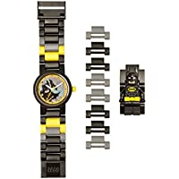 LEGO Batman Movie 8020837 Batman Kids Minifigure Link Buildable Watch | black/yellow | plastic | 25mm case diameter | analog quartz | boy girl | official