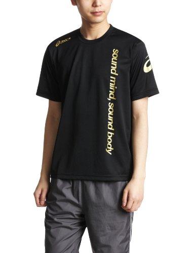 (アシックス)asics トレーニング Tシャツ XA6171 90 ブラック L