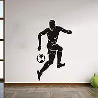 Ansyny サッカープレーヤーウォールステッカー用キッズルーム男の子寝室の壁の装飾取り外し可能なヴィンリー壁紙アートデカール家の装飾33 * 57センチ