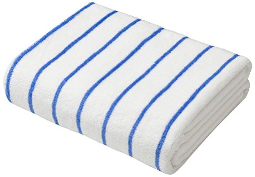 いちゃつくスラダム時間とともにシービージャパン タオル ストライプ ホワイト×ブルー 速乾 ヘアドライタオル マイクロファイバー カラリクオ carari