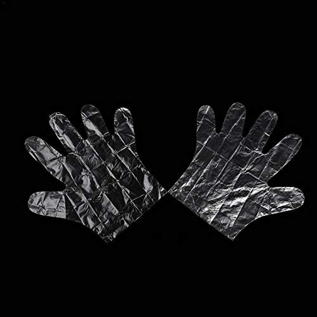 庭園どういたしまして一時解雇するcolmall 使い捨て手袋 子供用 極薄ビニール手袋 ポリエチレン 透明 実用 衛生 100枚/200m枚セット 左右兼用 on