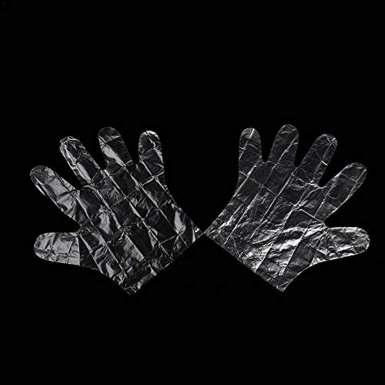延ばす落ちたアスペクトcolmall 使い捨て手袋 子供用 極薄ビニール手袋 ポリエチレン 透明 実用 衛生 100枚/200m枚セット 左右兼用 on