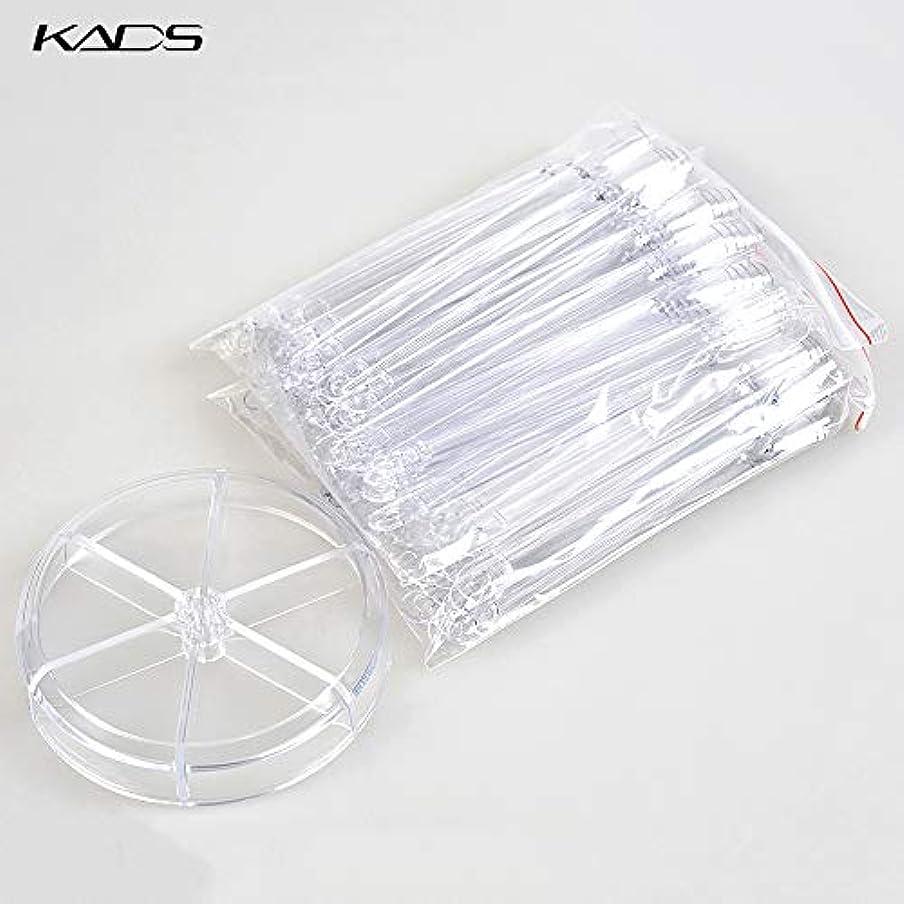 弾力性のある栄光の天KADS ネイルカラーチャート スティックチップ ディスプレー用 練習 120枚 (クリア)
