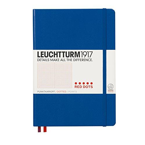 ロイヒトトゥルム ノート ドット方眼 A5 レッドドット ロイヤルブルー 357698 正規輸入品