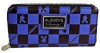 [プレイボーイ] PLAYBOY ブロック チェック 長財布 ブルー