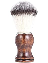 あごひげケア 美容ツール メンズ用 髭剃り ブラシ シェービングブラシ 木製ハンドル 男性 ギフト理容 洗顔 髭剃り