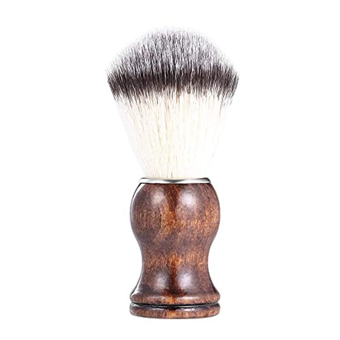 独立して砂利腐敗したあごひげケア 美容ツール メンズ用 髭剃り ブラシ シェービングブラシ 木製ハンドル 男性 ギフト理容 洗顔 髭剃り