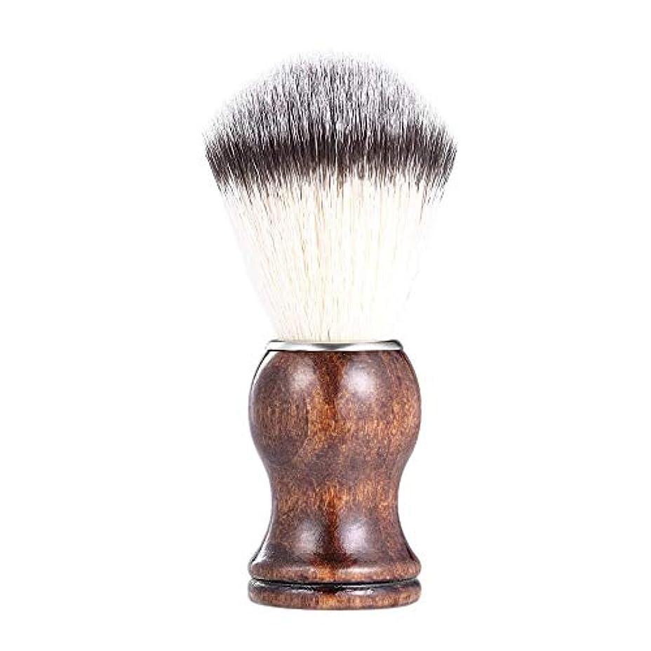 コンセンサスイルフェローシップあごひげケア 美容ツール メンズ用 髭剃り ブラシ シェービングブラシ 木製ハンドル 男性 ギフト理容 洗顔 髭剃り