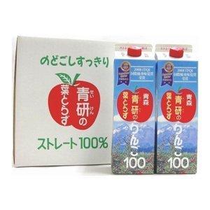 青研の葉とらずりんご100 1KgX12