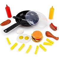 [リバティインポート]Liberty Imports Fast Food Cooking Pan 25 Piece Kitchen Play Food Set for Kids XG1002 [並行輸入品]